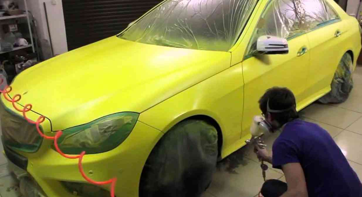 Как убрать подтеки на автомобиле после покраски