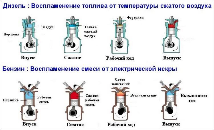 Сравниваем бензиновый и дизельный двигатель