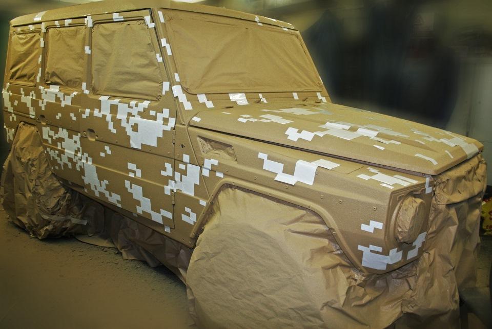 Самостоятельная покраска автомобиля в камуфляж