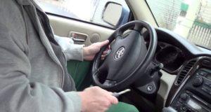 Как самостоятельно разблокировать руль без ключа